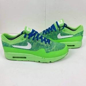 Nike Air Max Men's 1 Ultra Flyknit US 12 Voltage Green Athletic Sneakers Tennis